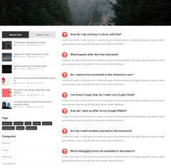 Left Sidebar Page – Anderson
