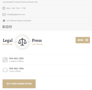 Legal Press - Law, Attorney WordPress theme