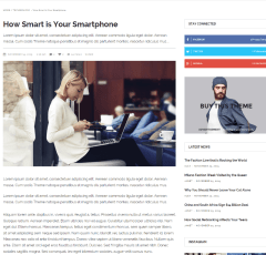Magazine vibe – page with sidebar