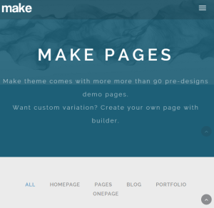 Make Theme - One page + multipage WordPress theme