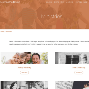 Maranatha - Church WordPress theme