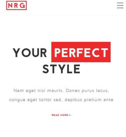 NRG fashion - fashion WP theme