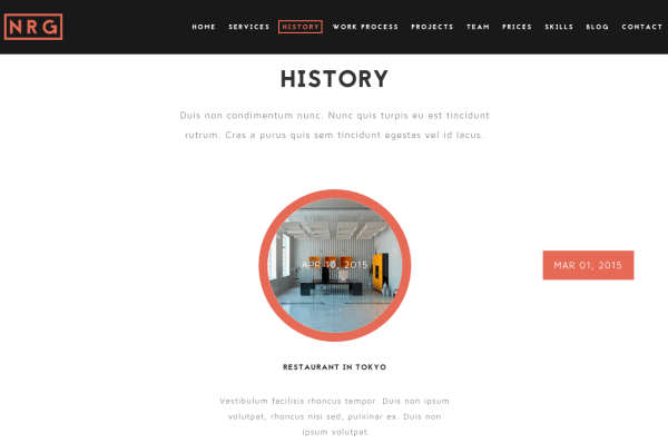 NRGbusiness History Page