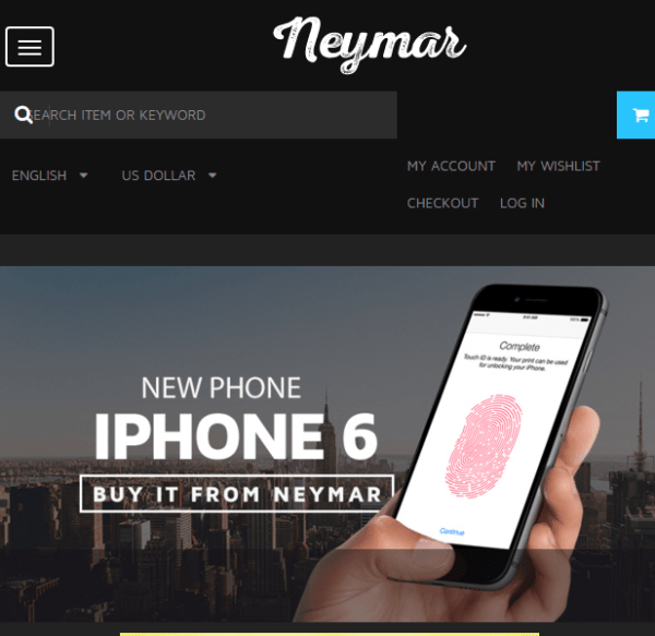 Neymar - Responsive WooCommerce WordPress theme