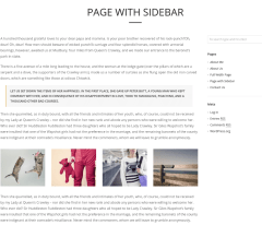 Page with right sidebar – TopPic