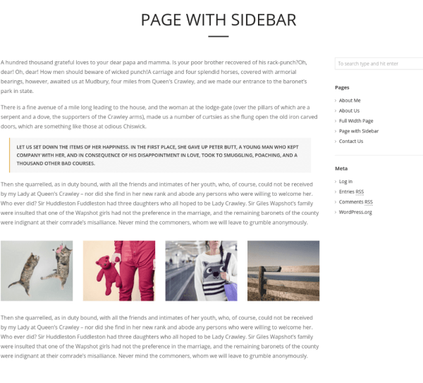 Page with right sidebar - TopPic