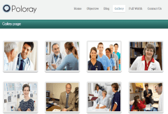 Poloray- Gallery layout
