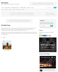 Portfolio page of Davinci WordPress theme