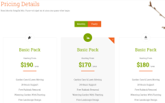 Pricing Details Section of Garden Master