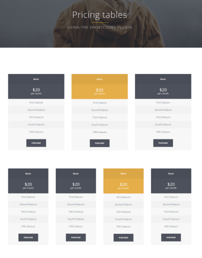 Pricing Table - Cleayn