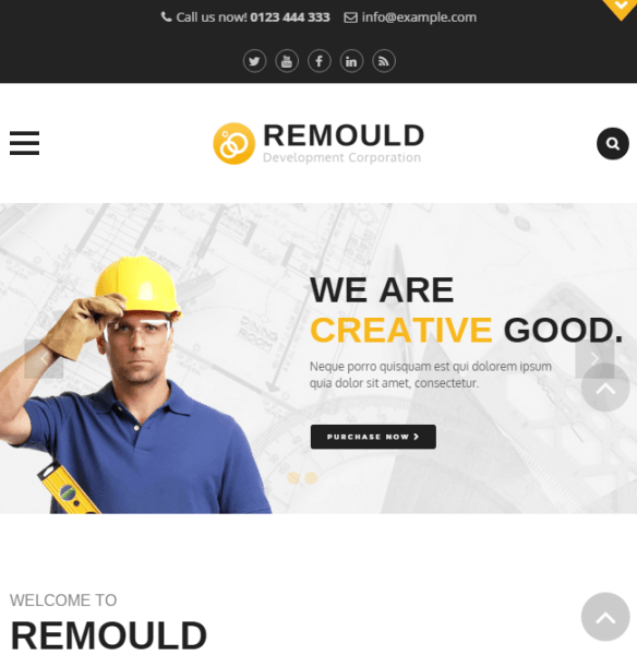 Remould – Construction and Building Responsive WordPress theme