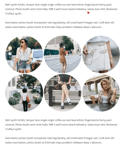Rounded Gallery Images - Smartblog Theme