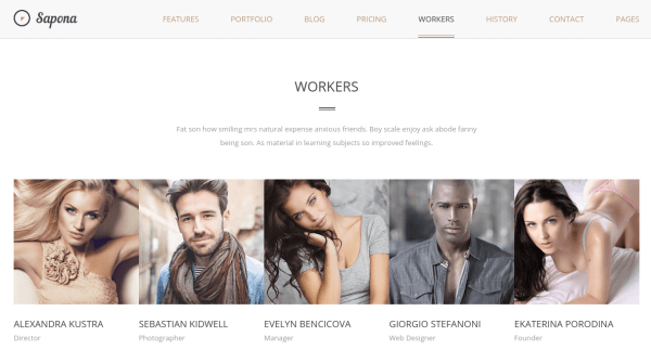Sapona Workers Page