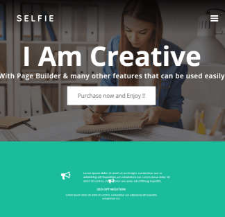 Selfie - Creative Portfolio WordPress theme
