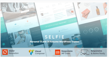 Selfie - Portfolio WordPress theme