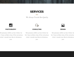 Services page of Andy