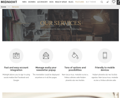 Services page of Midnight
