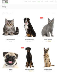 Shop Page – Happy Pets