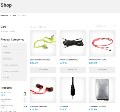 Shop Page - RepairPress