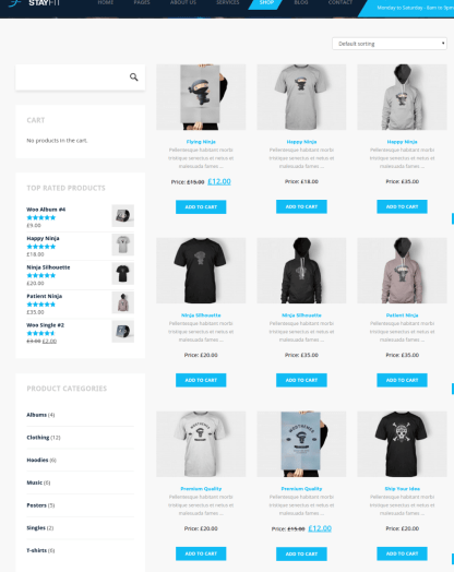 Shop Page - Stayfit