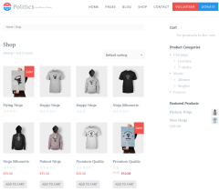 Shop Page of Poltics Plus