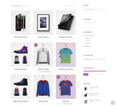 Shop page of Armada theme