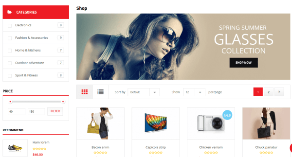 Shop page of Atom