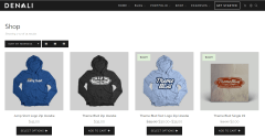 Shop page of Denali