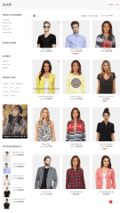 Shop page of Fashion Feast theme