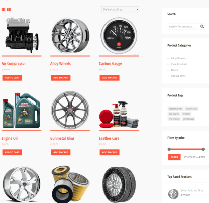 Shop page of Fix and Ride