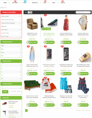 Shop page of Newshopping theme