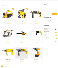 Shop page of Remould theme