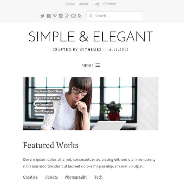 Simple & Elegant -Multipurpose WordPress theme