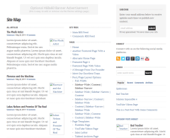 Sitemap page of WP Clearvideo theme