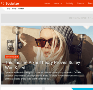 Socialize Homepage