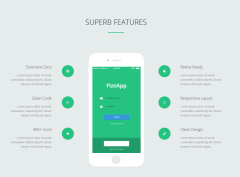 Some of Features of FlatApp theme