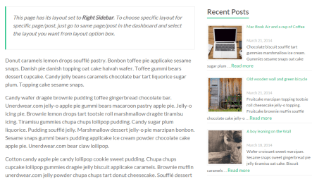 Spacious WordPress theme in Tablet landscape version