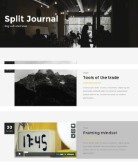 Split journal Page – Kvadrat