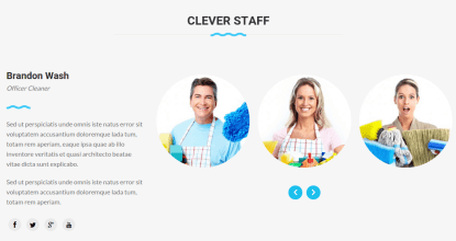 Staff Section of Cleaning