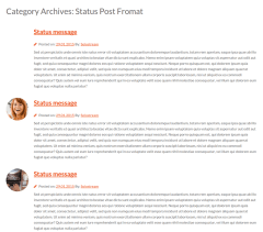 Status Post Format  WP-Creative
