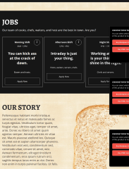 Story and Jobs Section of SNDWCH