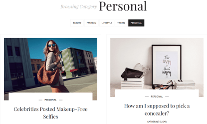 SugarBlog Personal Category Page