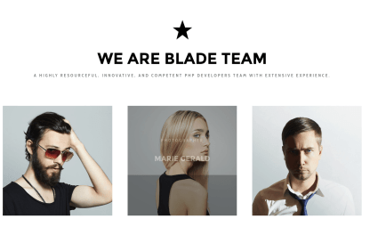 Team Page - Blade