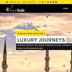 Travelhub homepage