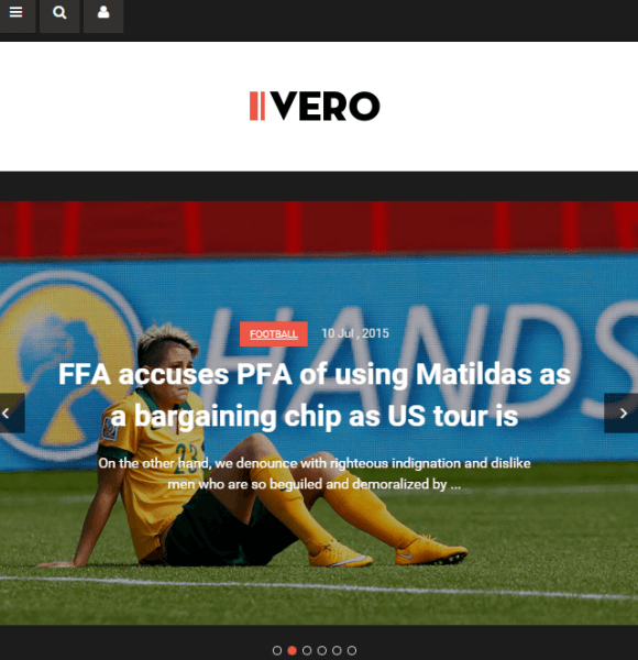 Vero – Blog and Magazine WordPress theme