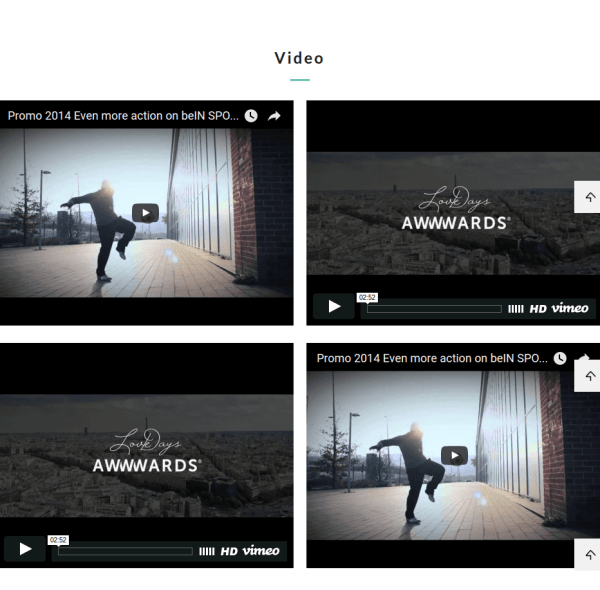 Video Section of Homepage in Ouera