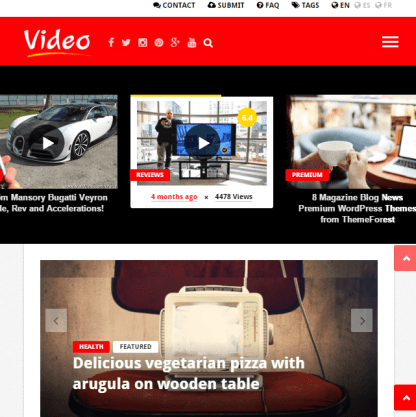 Videonews - Responsive WordPress News and Magazine theme.