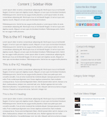 WP-Blossom theme's page with right sidebar