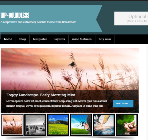 WP Boundless - WordPress Blogging theme