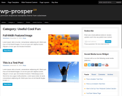 WP-Prosper Useful Cool Fun Page